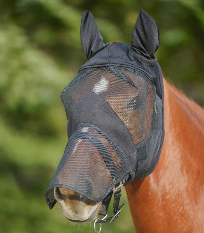 Maska Waldhausen AWA Premium s prodloužením na nos a s ušima černá