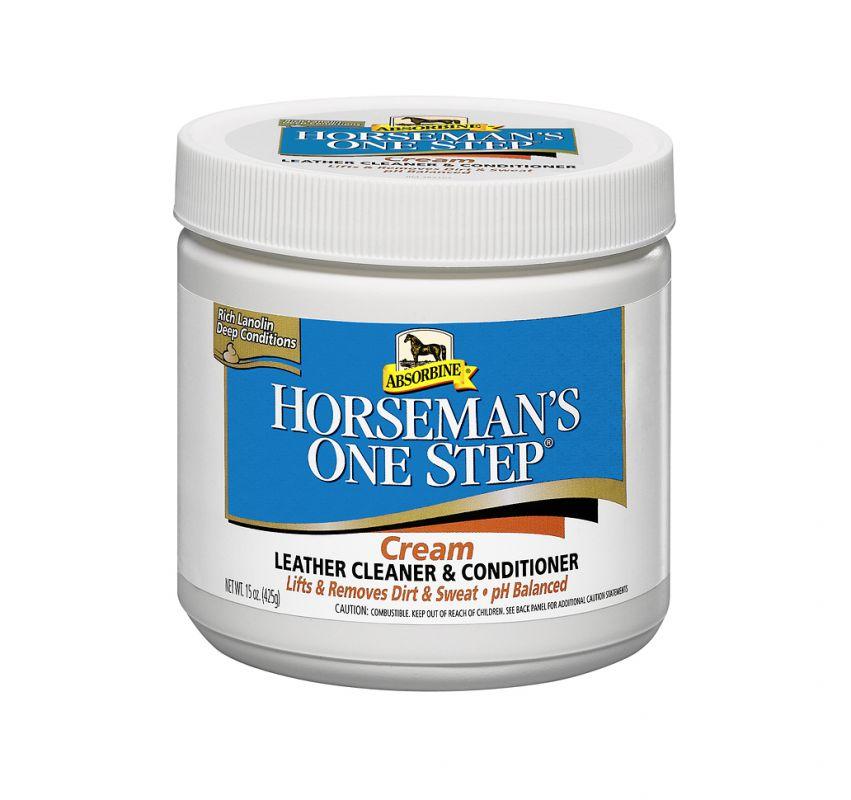 Horseman´s One Step cream - Čistící balzám na kožené výrobky, balení 425 g