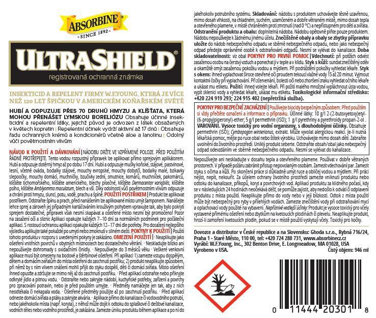 Absorbine UltraShield návod k použití