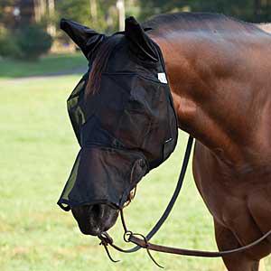 Cashel Crusader jezdecká maska s nosem a ušima