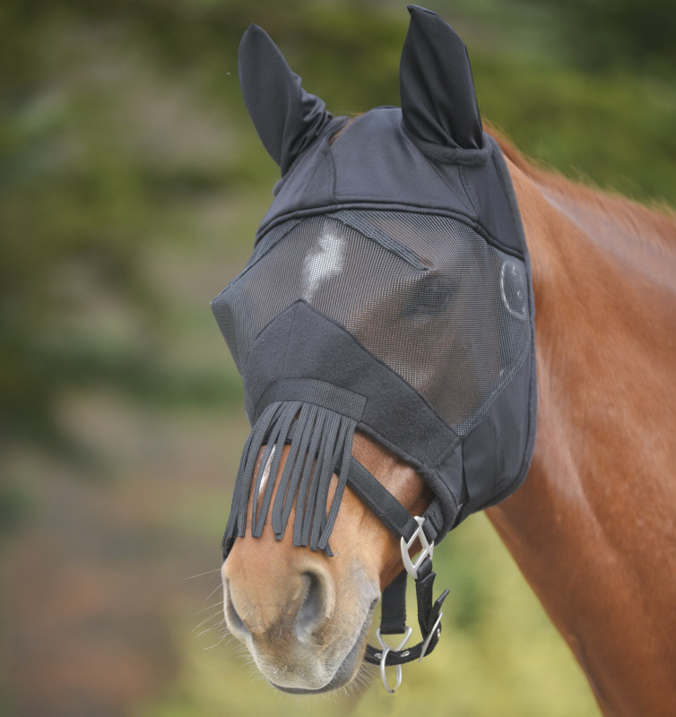 Maska Waldhausen AWA Premium s třásněmi černá