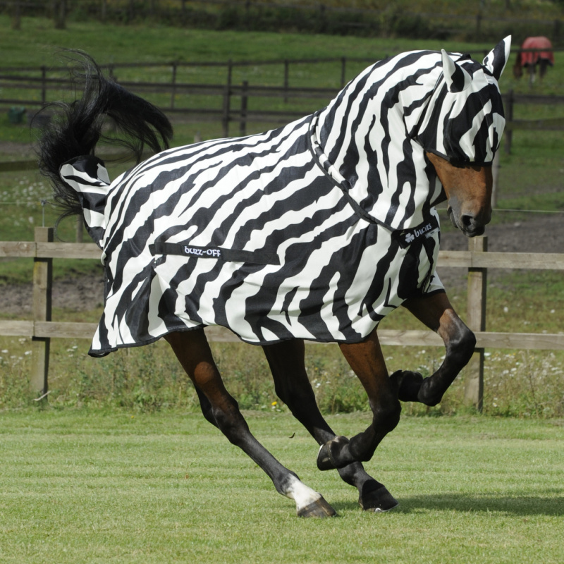 Bucas BuzzOff Zebra Full Neck síťovaná deka
