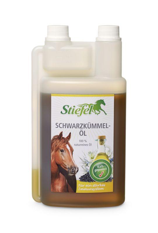 Stiefel Olej z Černého kmínu pro silný imunitní systém, láhev s dávkovačem 1 l