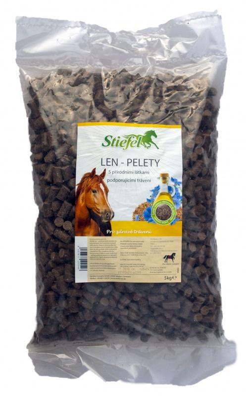 Stiefel Len pelety / granulát pro lepší srst a zažívání, sáček 5 kg