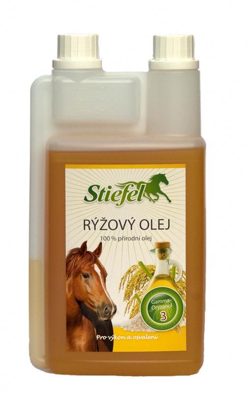 Stiefel Rýžový olej pro výkon a stavbu svalů, láhev s dávkovačem 1 l