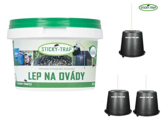 Sticky Trap Set 3 ks Kyblík a Lep 0,5 l