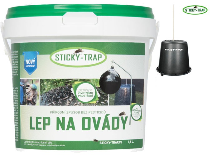 Sticky Trap Set Kyblík a Lep 1,5 l