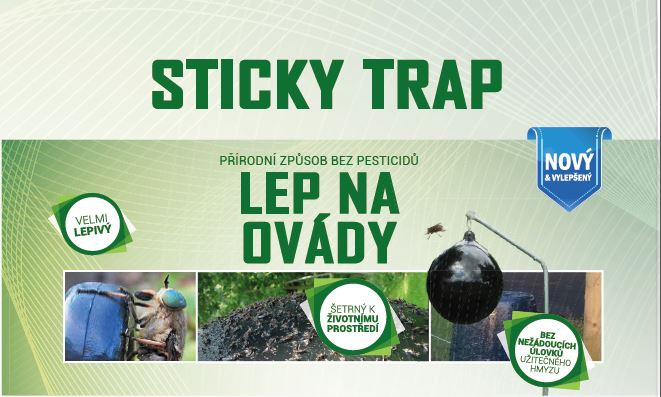 Sticky trap Past na ovády