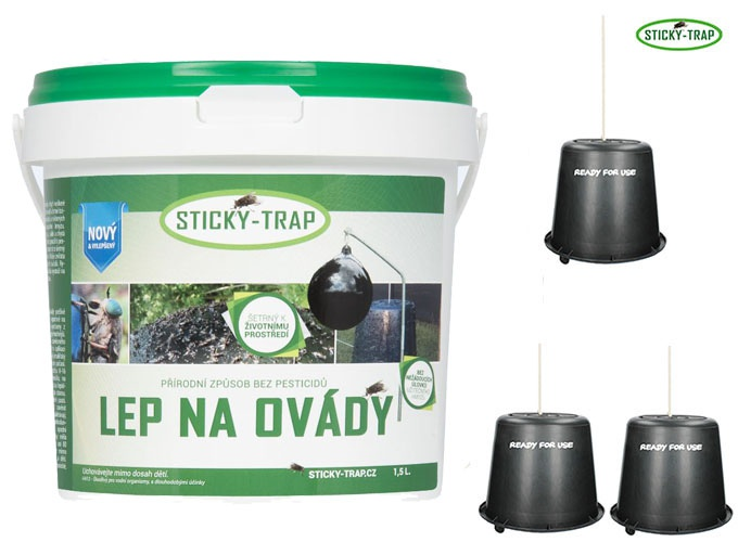 Sticky Trap Set 3 ks Kyblík a Lep 1,5 l
