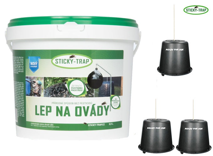 Sticky Trap Set 3 ks Kyblík a Lep 3,5 l