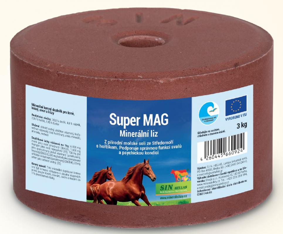 S.I.N. HELLAS Super Mag, minerální liz s hořčíkem, vápníkem a fosforem 3kg