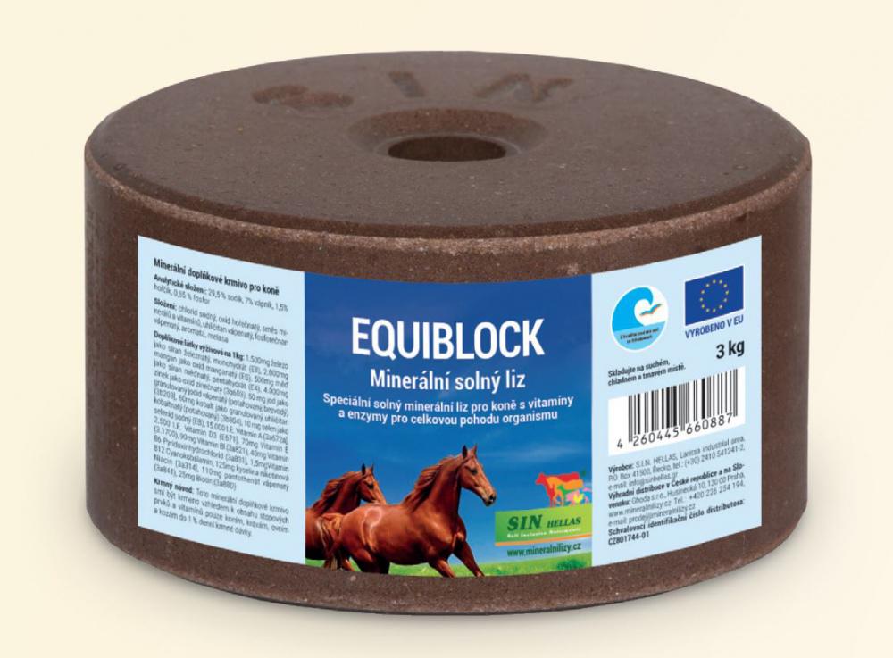 S.I.N. HELLAS Equiblok, minerální solný liz pro koně s vitamíny a enzymy 3kg