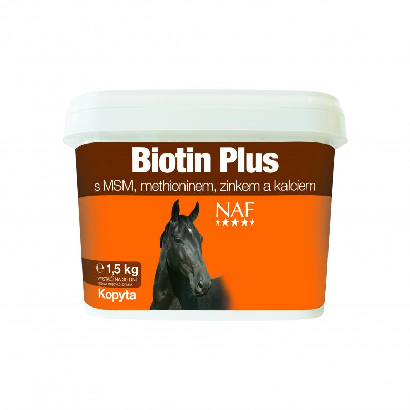 NAF Biotin plus pro zdravá kopyta, kyblík 1,5kg