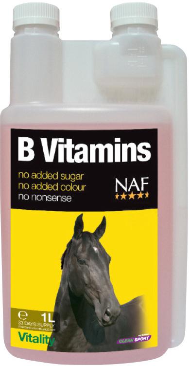 NAF B-vitamins pro soustředěnost a vitalitu koní 1000ml