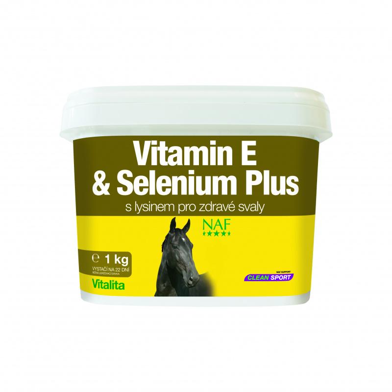 NAF Vitamin E and Selenium plus, vitamín E a selen pro správnou funkci svalů koní v zátěži 1kg