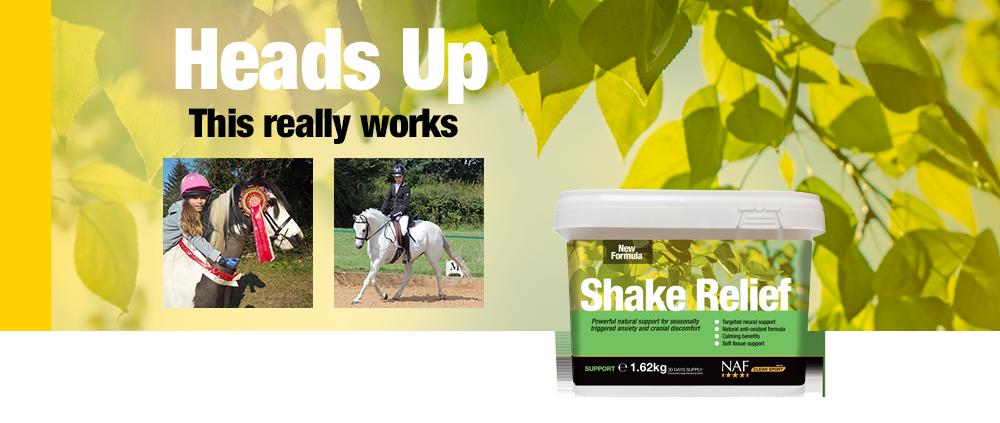 NAF Shake relief pro pro muchaře a koně postižené letní vyrážkou