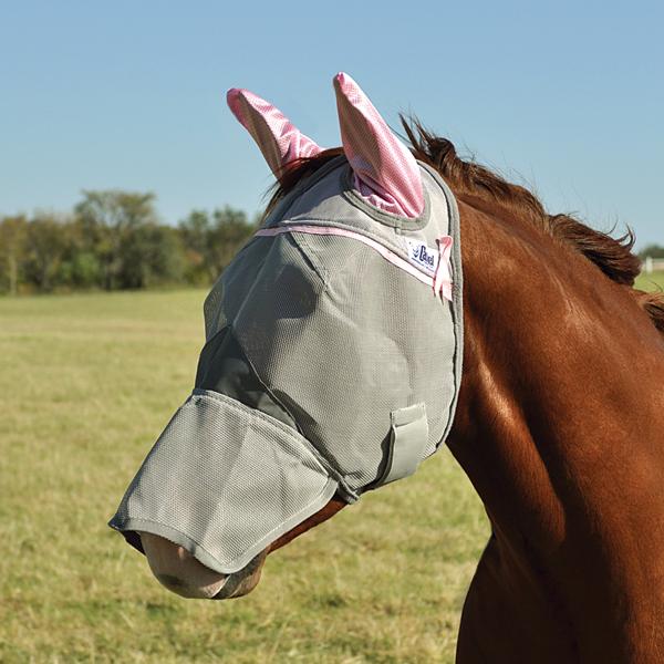 Maska Cashel Crusader Long růžová s ušima