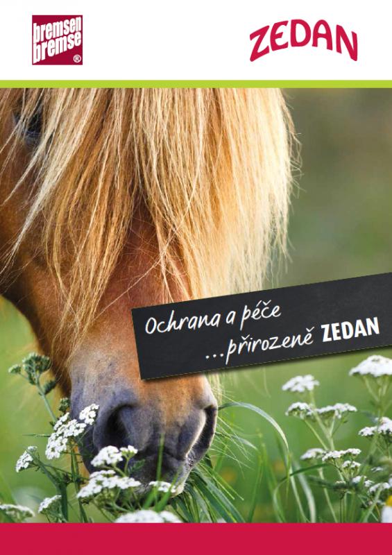 Katalog přírodní kosmetiky pro koně a jezdce Zedan