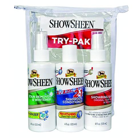 Absorbine Show sheen produktový balíček koňské kosmetiky na vyzkoušení