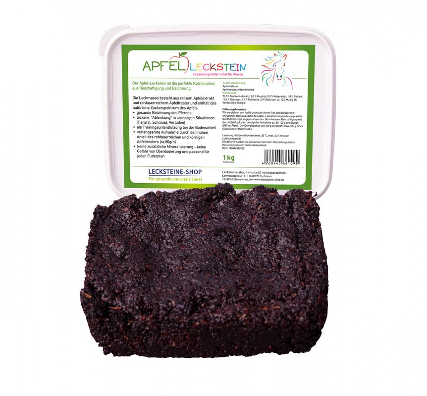 100% Jablečný liz pro koně, chutný a zdravý pamlsek