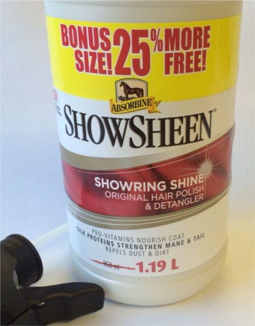 ShowSheen® Lesk & Rozčesávač, prémiové balení láhev s rozprašovačem 1 190 ml