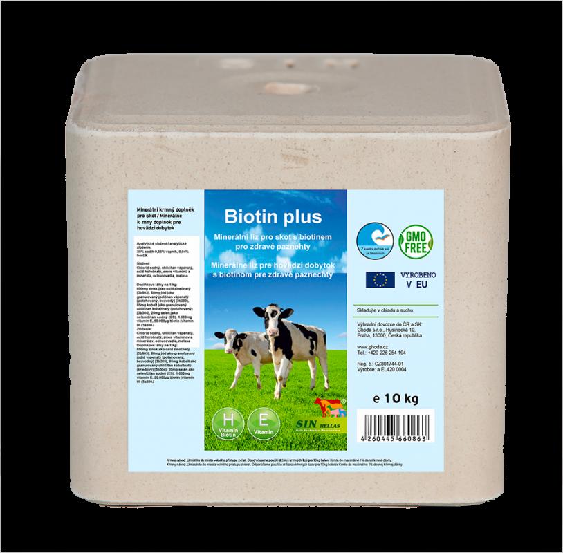 Minerální liz s biotinem Biotin plus