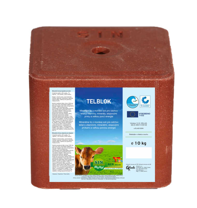 Prémiový minerální liz pro telata Telblock