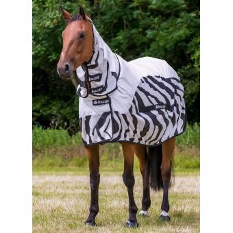 Bucas BuzzOff Zebra Rain Full Neck síťovaná deka i do deště