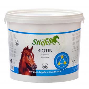 Stiefel Biotin pro kůži, srst a silná kopyta, balení 3 kg pelety