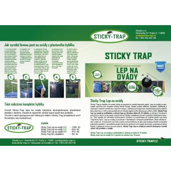 Sticky trap Past na ovády