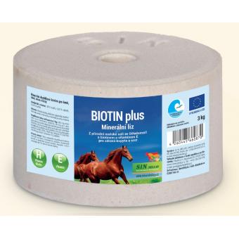 Biotin plus, minerální liz s biotinem a vitaminem E